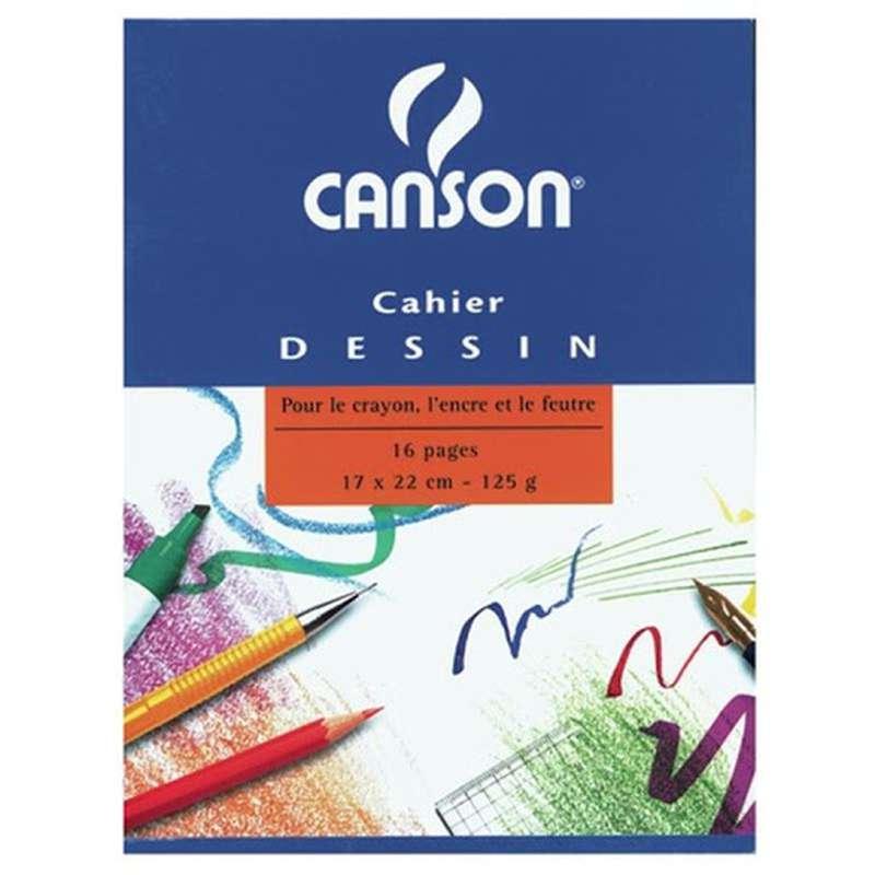 Cahier à dessin, Canson (17 x 22 cm, x 16 pages)