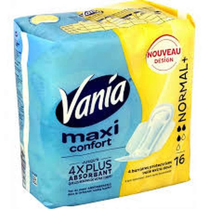 Serviettes Maxi Confort Normal +, Vania (x 16)
