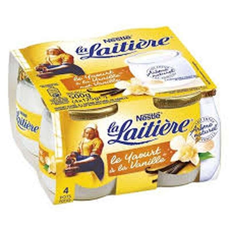 Yaourt saveur vanille, La Laitière (4 x 125 g)