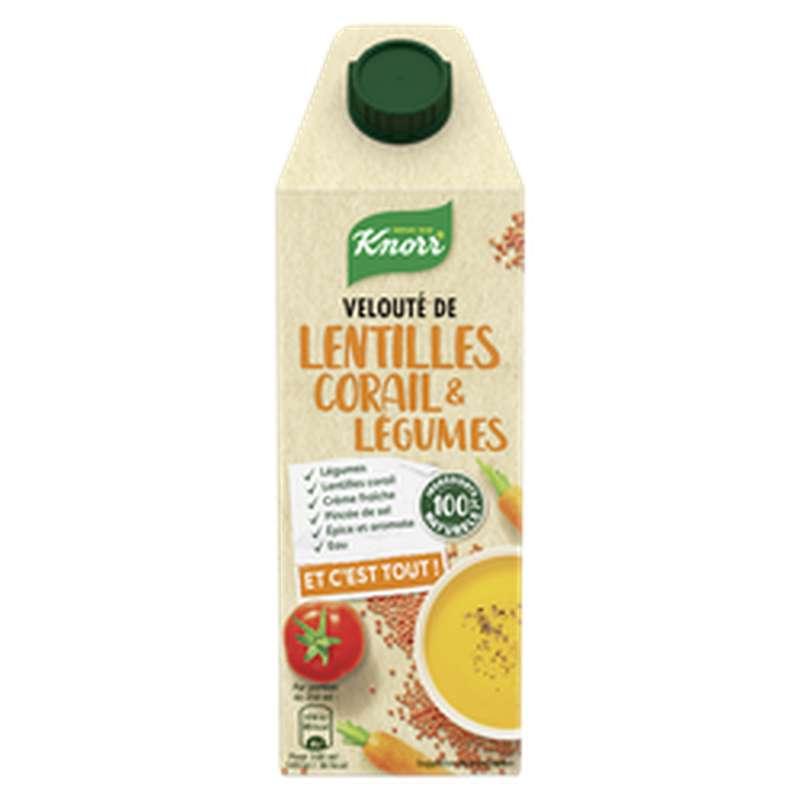 Velouté de lentilles corail et légumes, Knorr (750 ml)