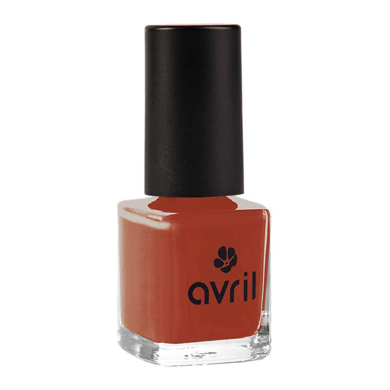 Vernis à ongles rouge brique, Avril (7 ml)