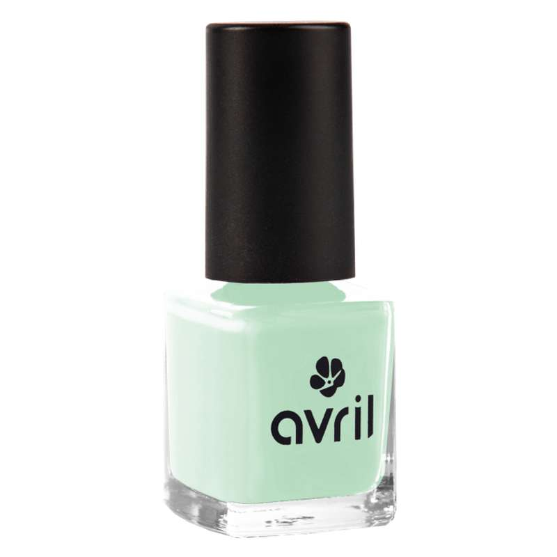 Vernis à ongles vert d'eau, Avril (7 ml)