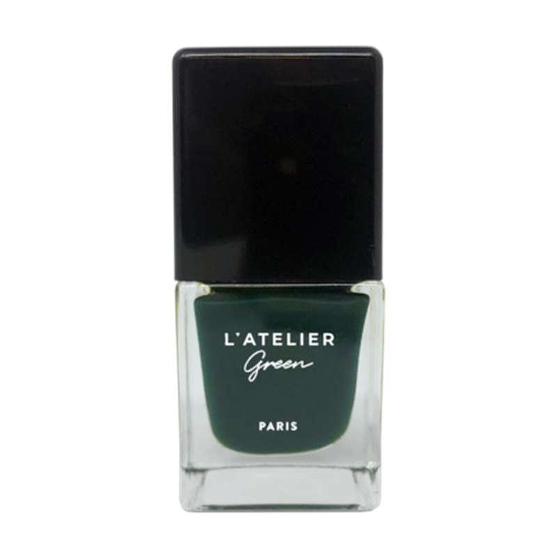 Vernis à ongles vert foncé Emerald Dreams Vegan, L'Atelier Green (10 ml)