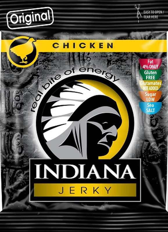 Viande de poulet jerky séchée, Indiana (25 g)