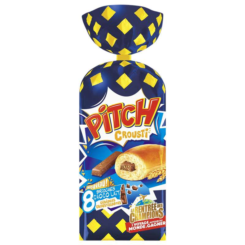 Pitch barre de chocolat au lait et aux billesde céréales, Pasquier (x 8, 320 g)