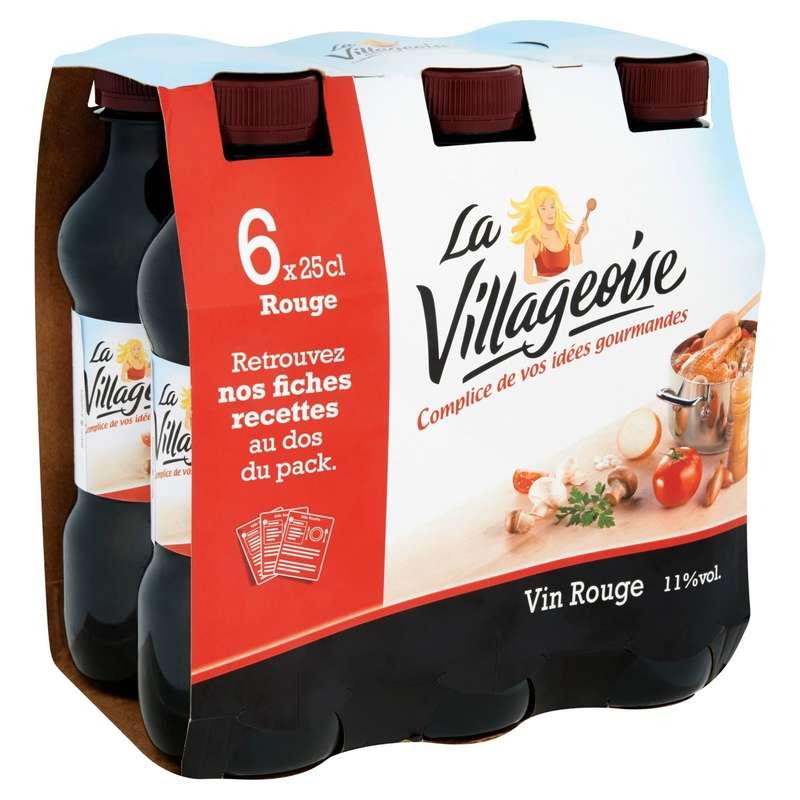 Vin de cuisine rouge, La Villageoise (6 x 25 cl)