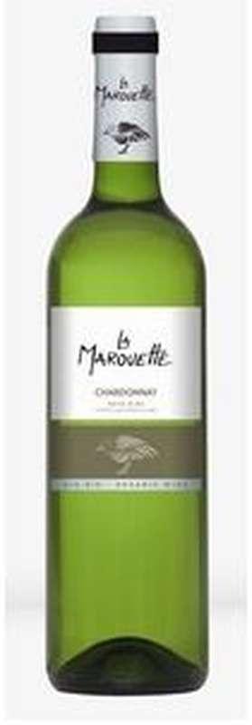 Vin blanc Chardonnay Pays d'Oc IGP BIO, La Marouette (75 cl)