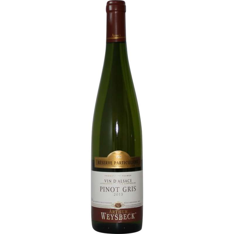 Vin blanc Pinot gris médaillé Arthur Weysbeck (75 cl)
