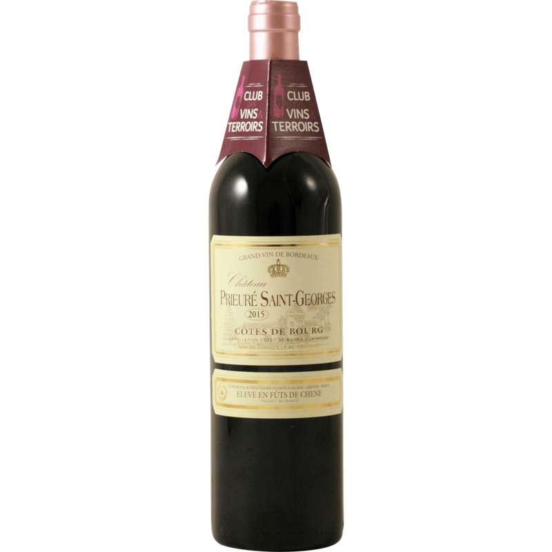 Côtes de Bourg élevé en fûts de chêne AOP Chateau Prieure Saint Georges 2017 (75 cl)
