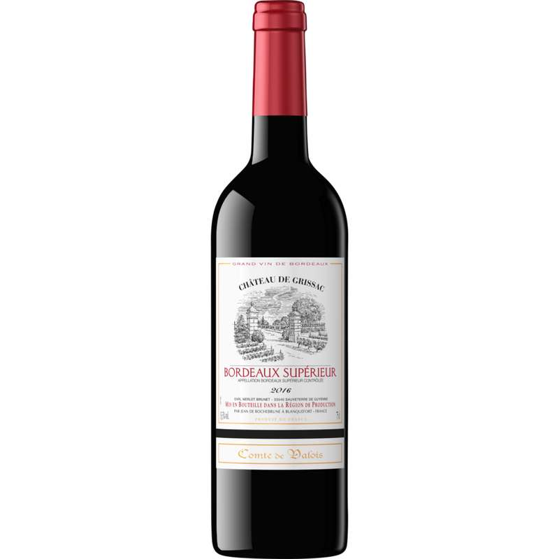 Bordeaux supérieur AOC Comte de Valois 2020 (75 cl)