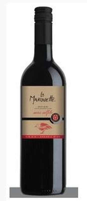 Vin rouge Pays d'Oc IGP sans sulfite BIO, La Marouette (75 cl)