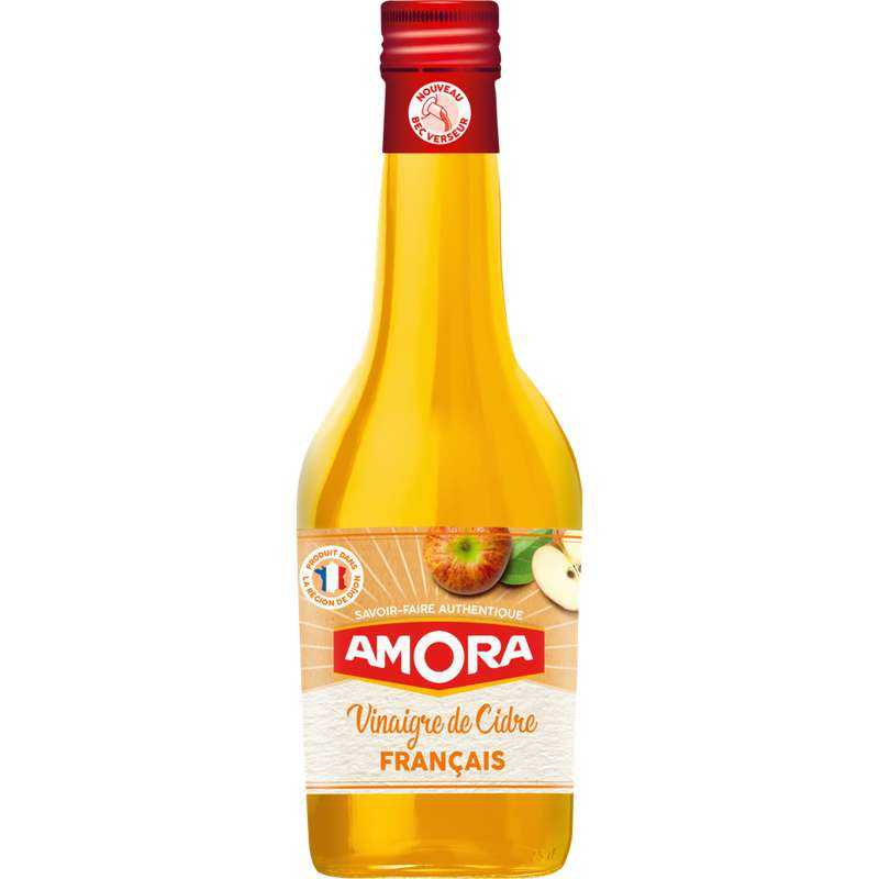 Vinaigre de cidre Français, Amora (60 cl)