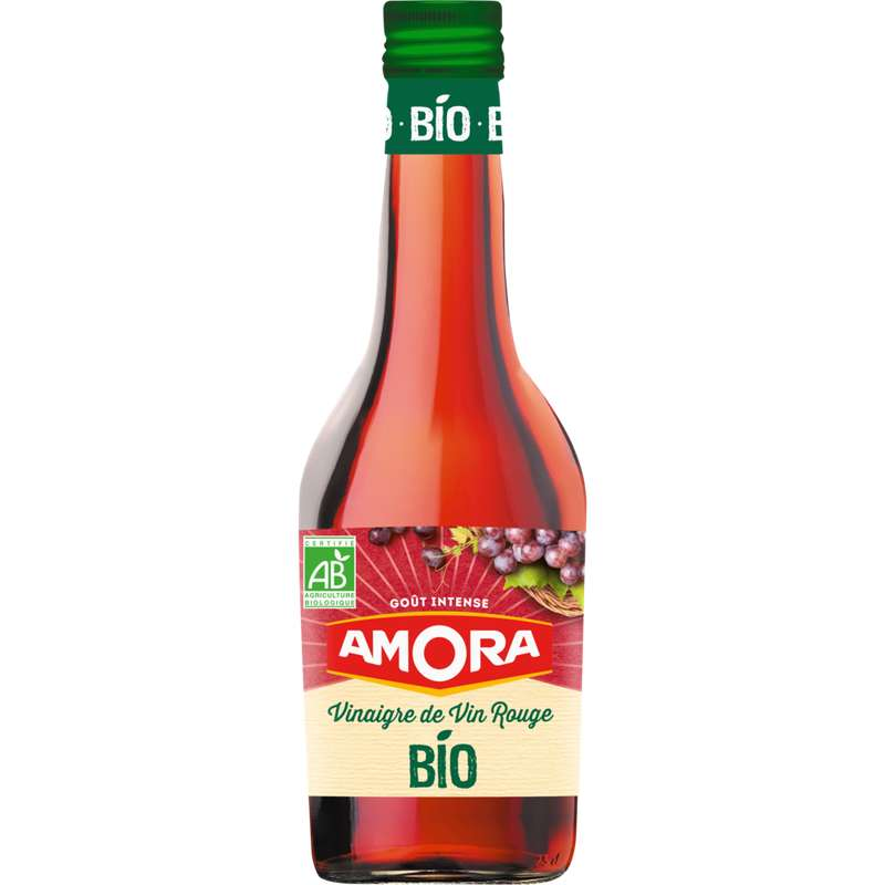 Vinaigre de vin rouge BIO, Amora (500 ml)