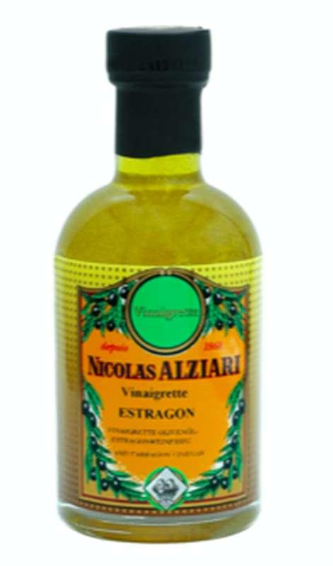 Vinaigrette huile et vinaigre à l'estragon, Nicolas Alziari (200 ml)