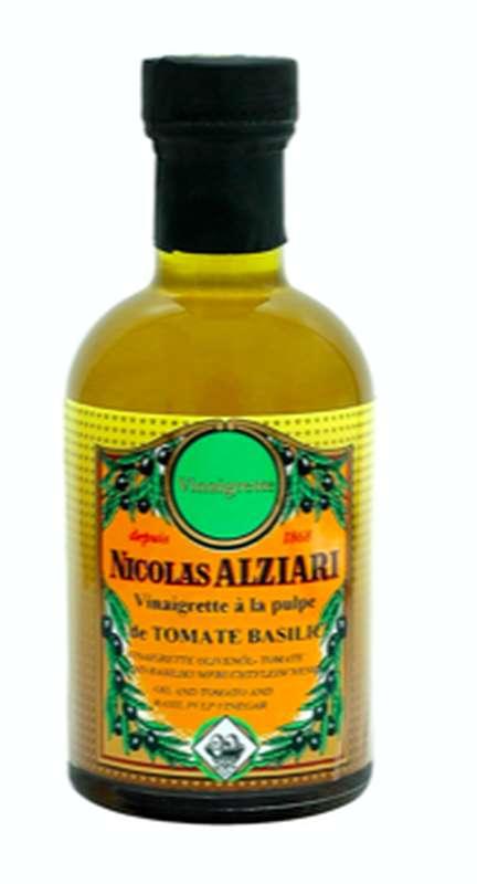 Vinaigrette huile et vinaigre à la pulpe de tomates basilic, Nicolas Alziari (200 ml)