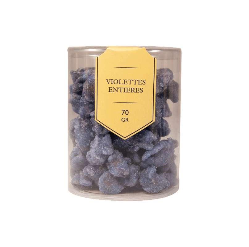 Violettes entières cristallisées, Le Petit Duc (70 g)