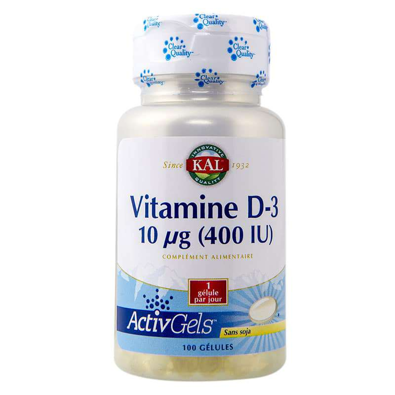 "Vitamine D3 KAL - 100 gélules ""softgel"""