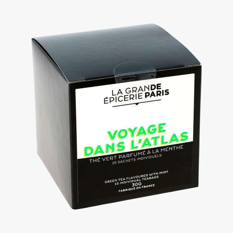 Thé vert Voyage dans l'Atlas aromatisé à la menthe, La Grande Epicerie de Paris (x 15)