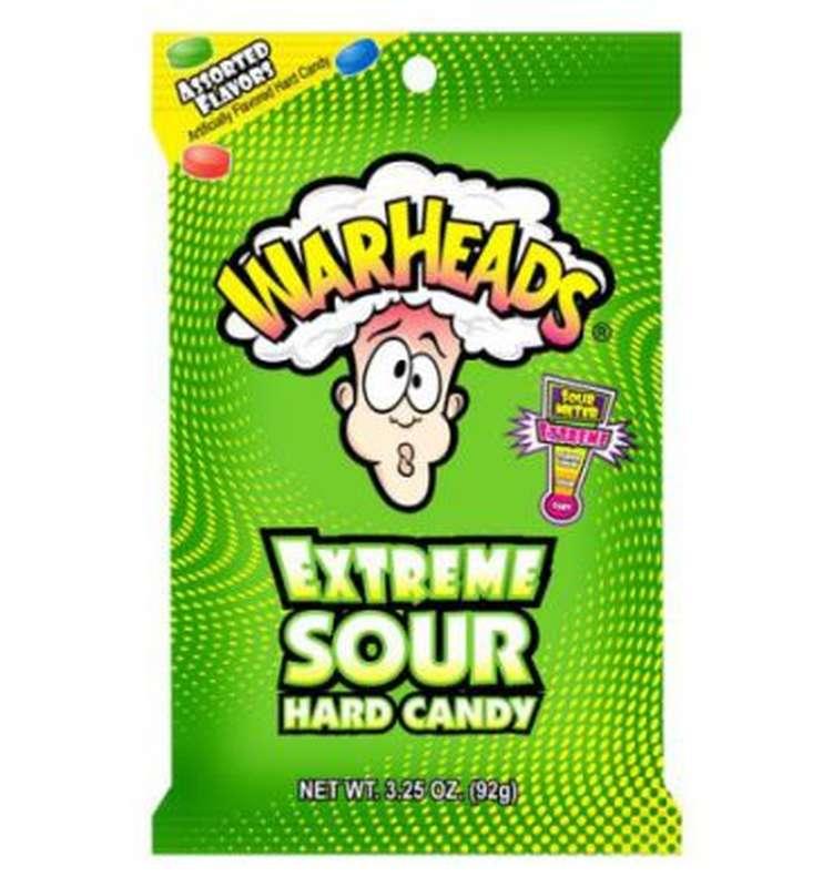 Bonbons Extreme Sour Hard, Warheads (57 g)
