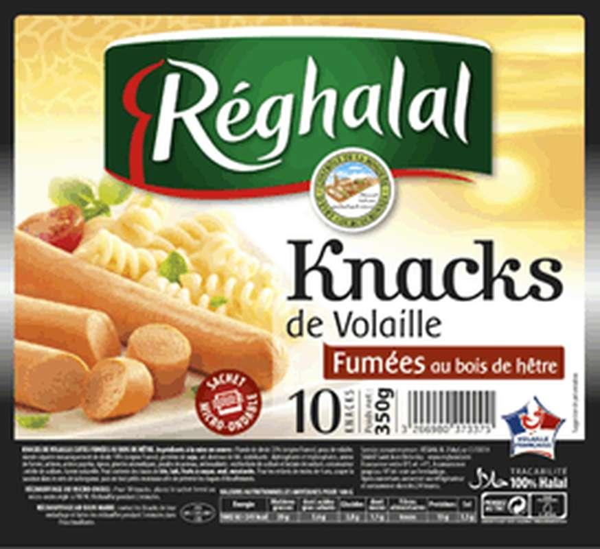 Knacks de Volaille Halal, Reghalal (x 10, 350 g)