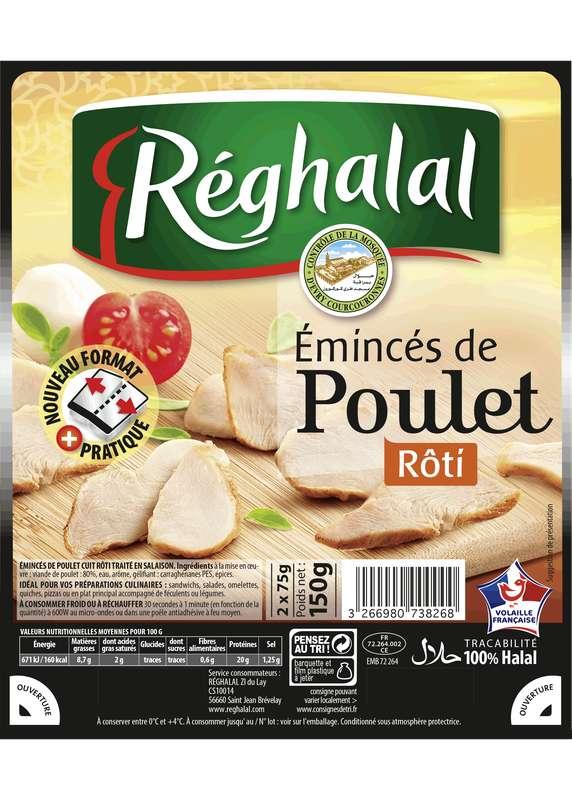 Emincés de poulet rôti Halal, Reghalal (150 g)