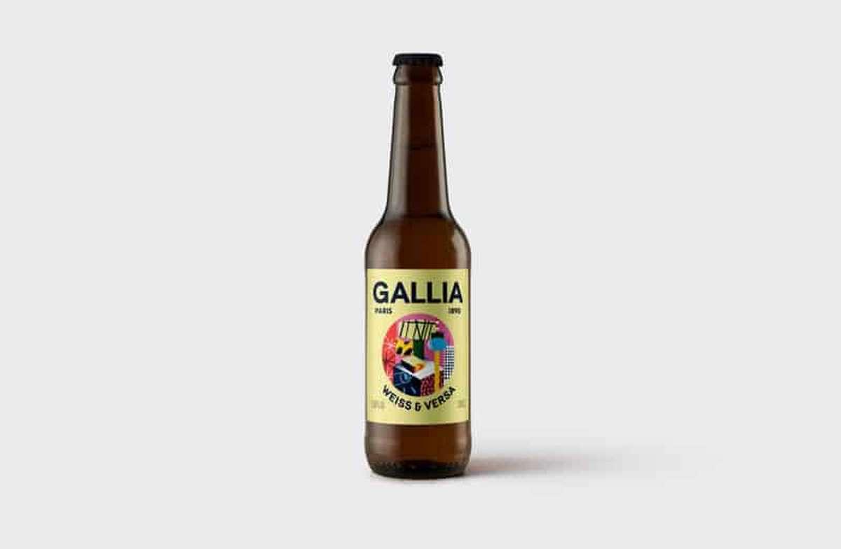 Weiss & Versa 3,8% bière blanche, Gallia (33 cl)