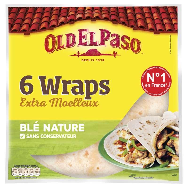 Wraps de blé souples, Old el Paso (x 6, 350 g)