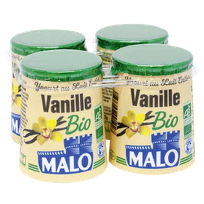 Yaourt à la vanille BIO, Malo (4 x 125 g)