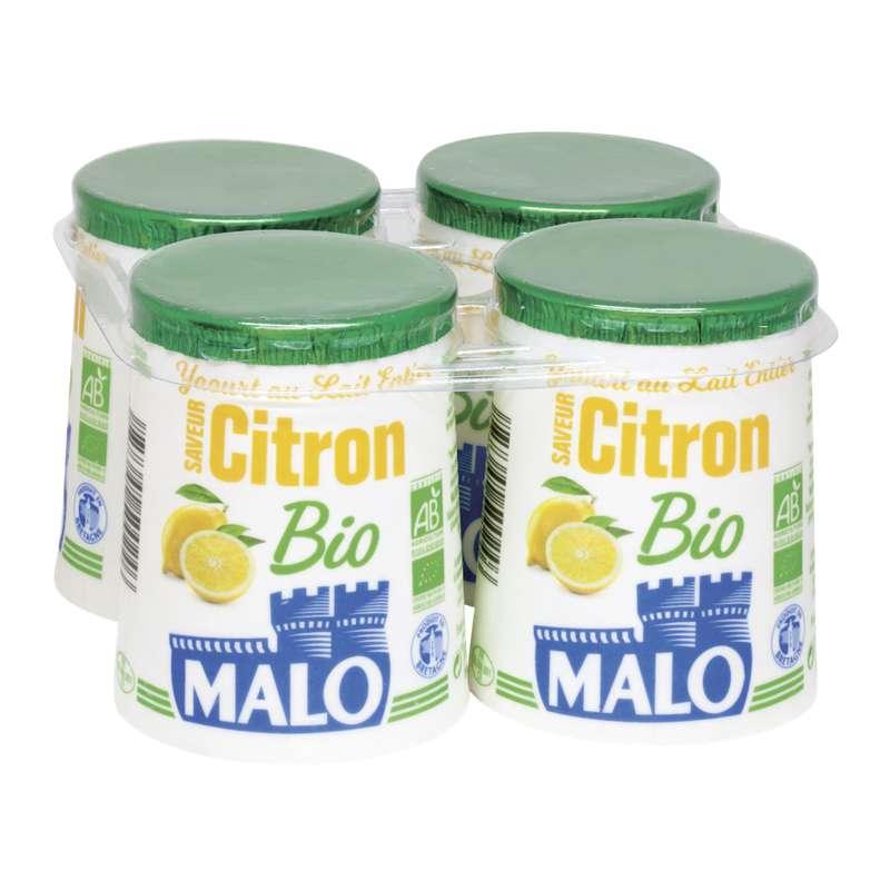 Yaourt citron BIO, Malo (4 x 125 g)
