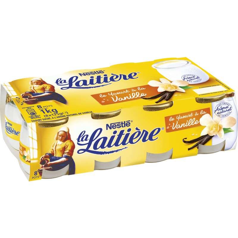 Yaourt saveur vanille, La Laitière (8 x 125 g)