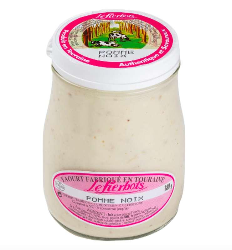Yaourt au pomme et noix, Fierbois (180 g)