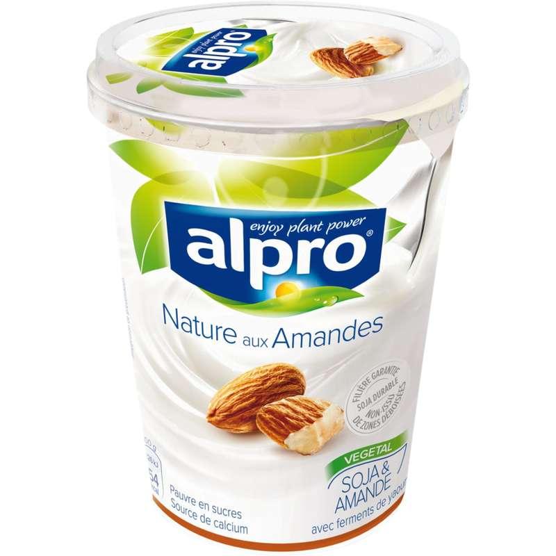 Brassé nature aux amandes à base de soja, Alpro (500 g)