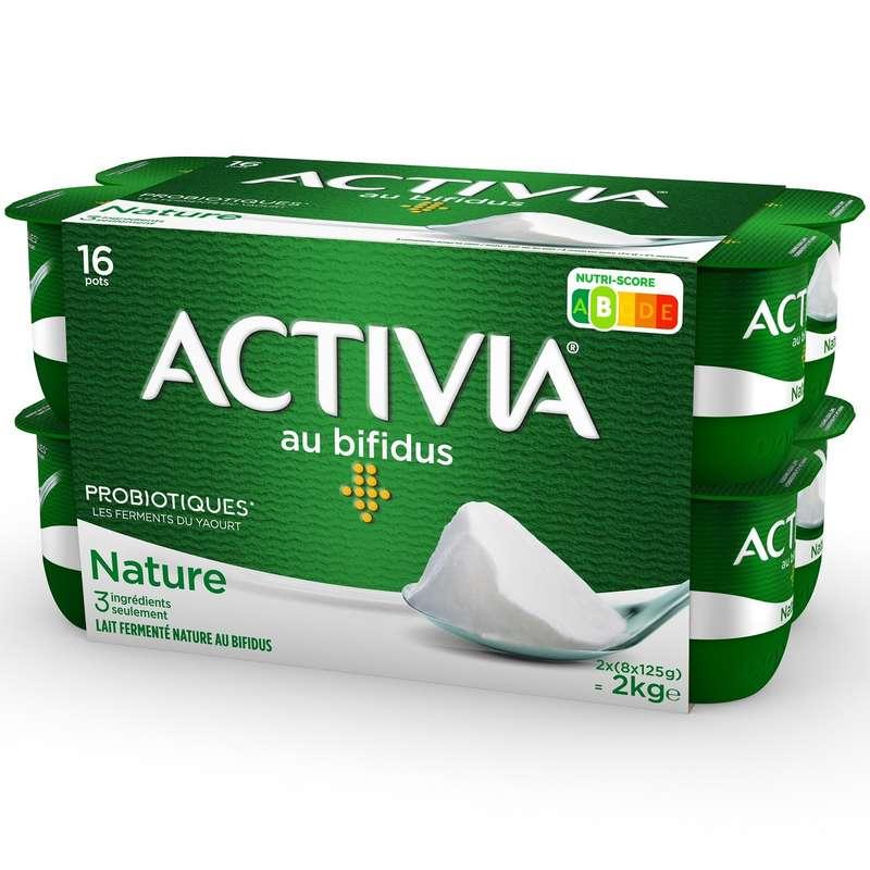 Yaourt bifidus nature Activia, Danone (16 x 125 g)