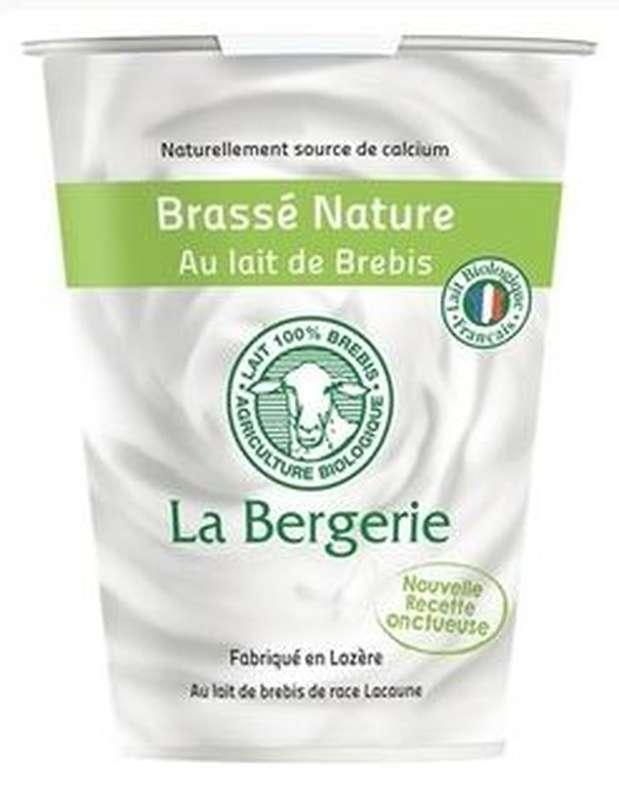 Yaourt brassé nature au lait de brebis BIO, La Bergerie (400 g)
