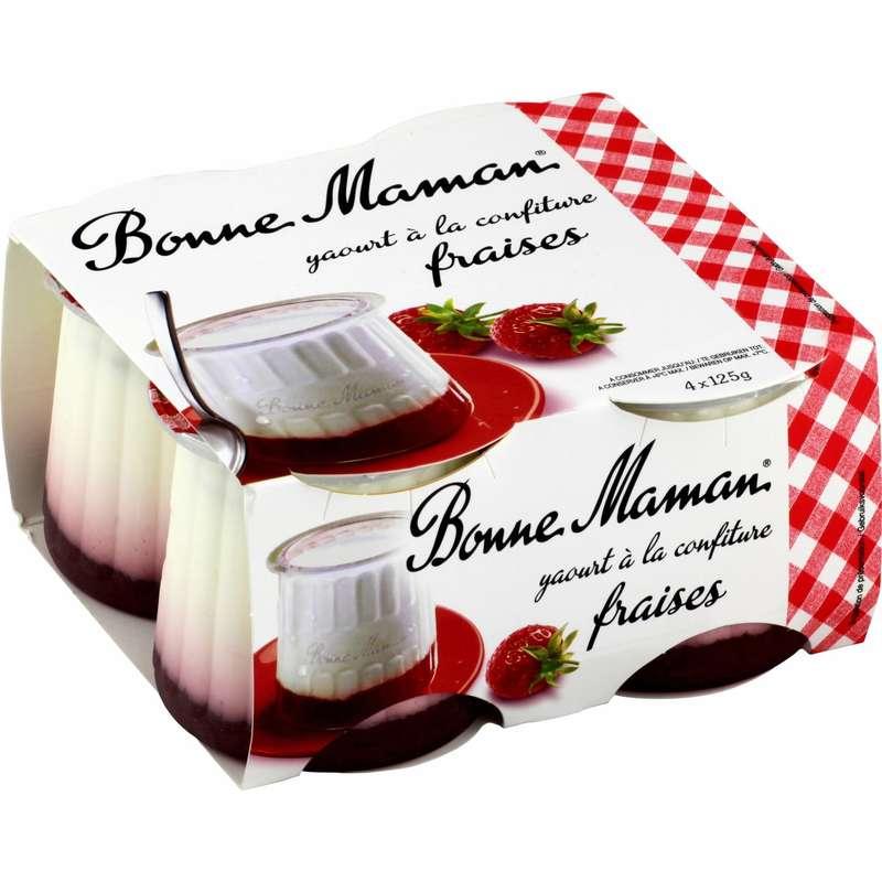 Yaourt confiture de fraise Bonne Maman (4 x 125 g)