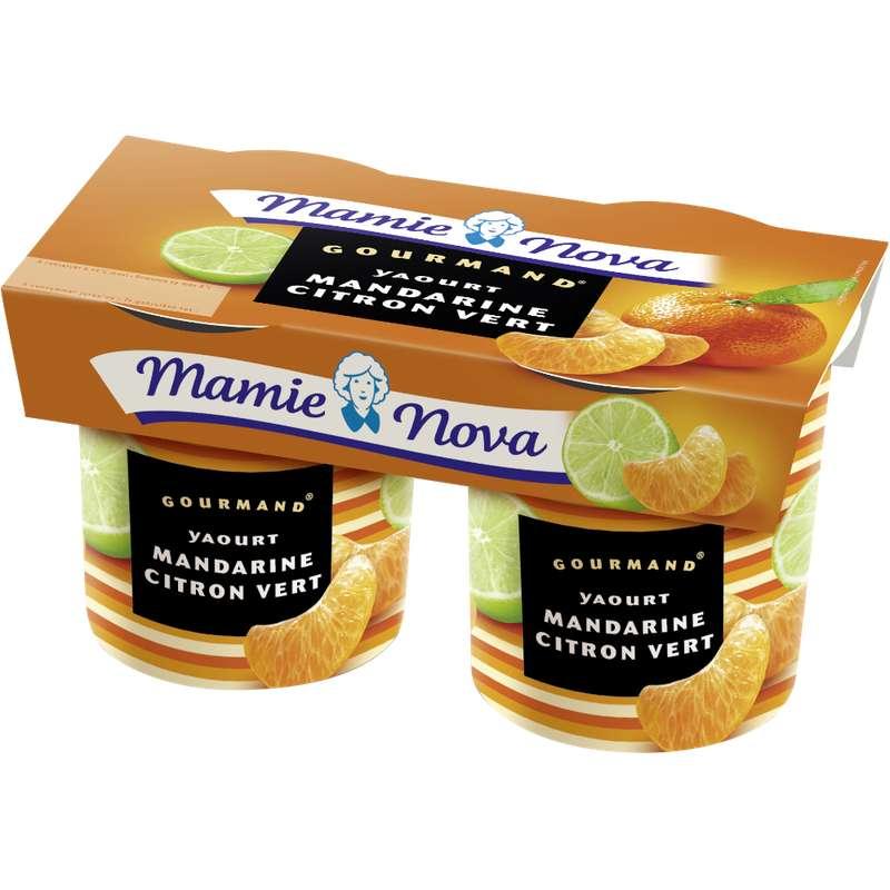 Yaourt Gourmand Mandarine Citron vert, Mamie Nova (2 x 150 g)