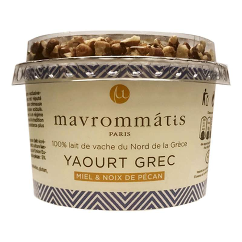 Yaourt Grec au miel et noix, Thessalia par Mavrommatis (160 g)
