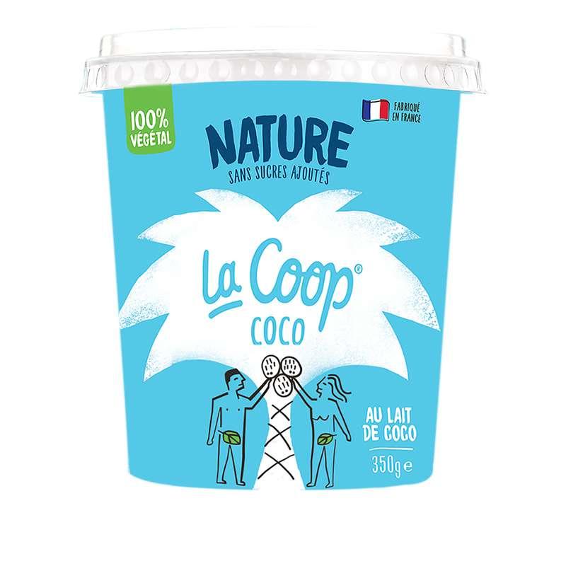 Yaourt Nature 100% végétal, La Coop Coco (350 g)