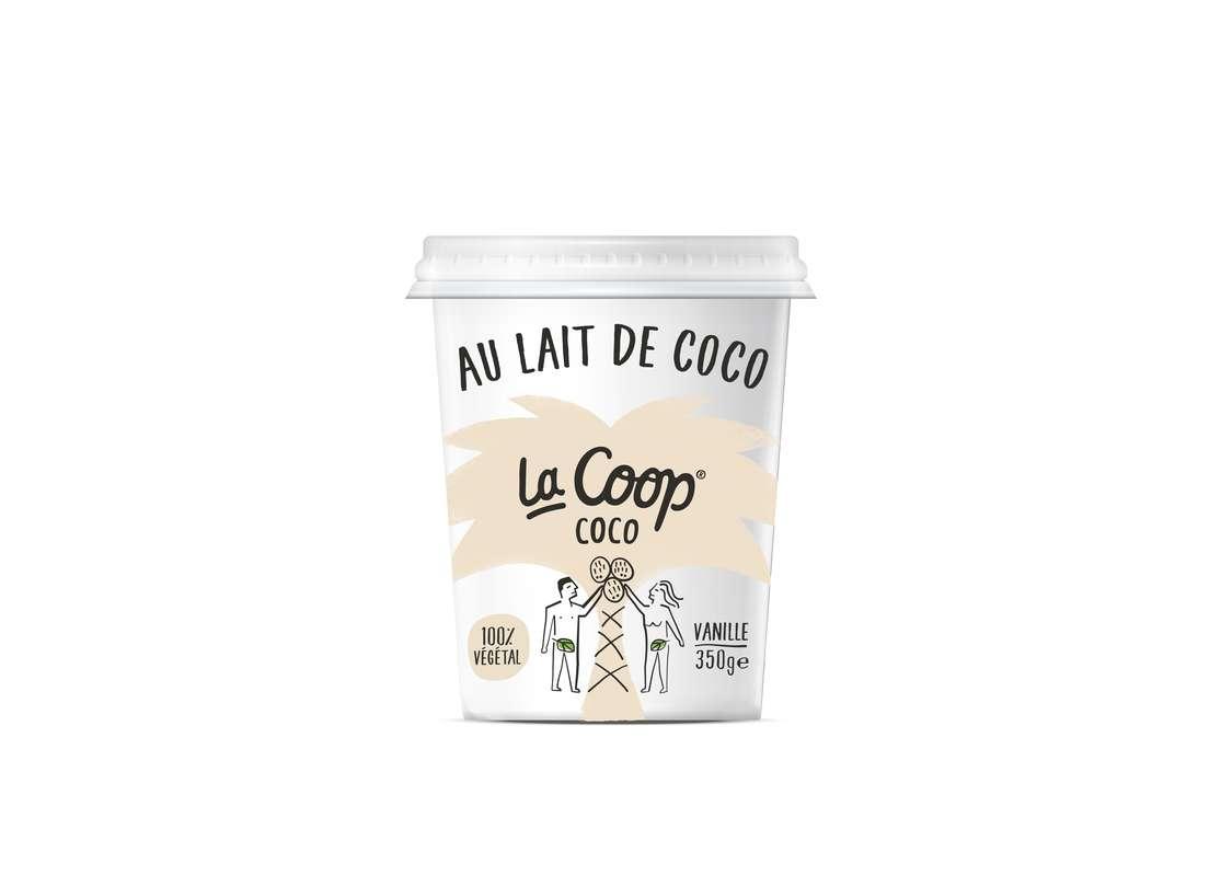 Yaourt Vanille 100% végétal, La Coop Coco (350 g)