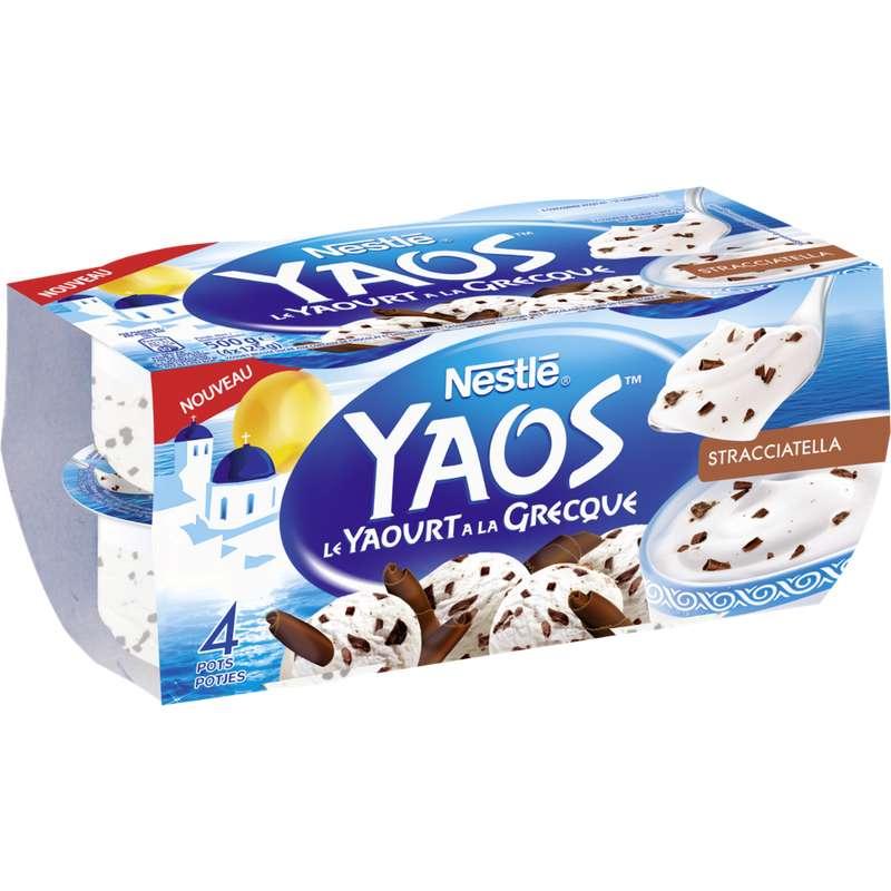Yaourt stracciatella à la Grecque Yaos, Nestlé (4 x 125 g)
