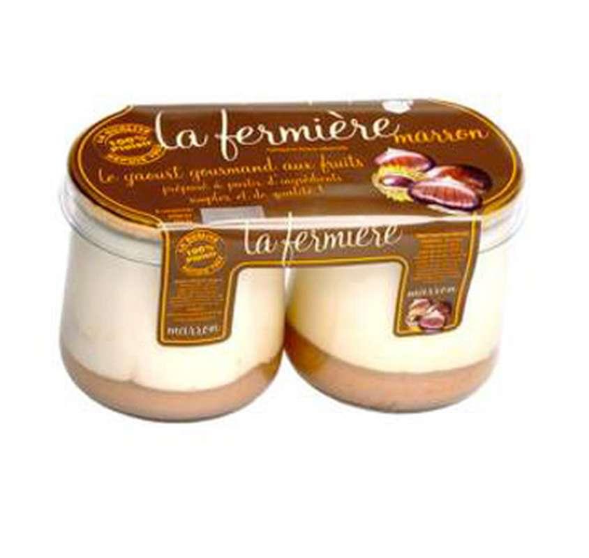 Yaourt à la crème de marron, La Fermière (2 x 160 g)