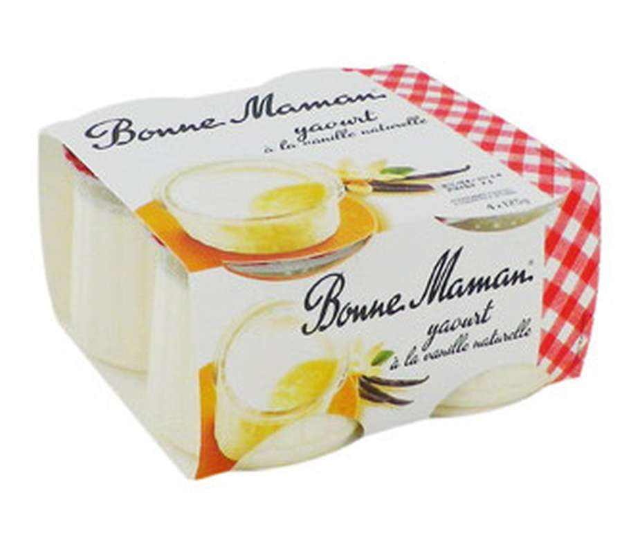 Yaourt à la vanille, Bonne Maman (4 x 125 g)