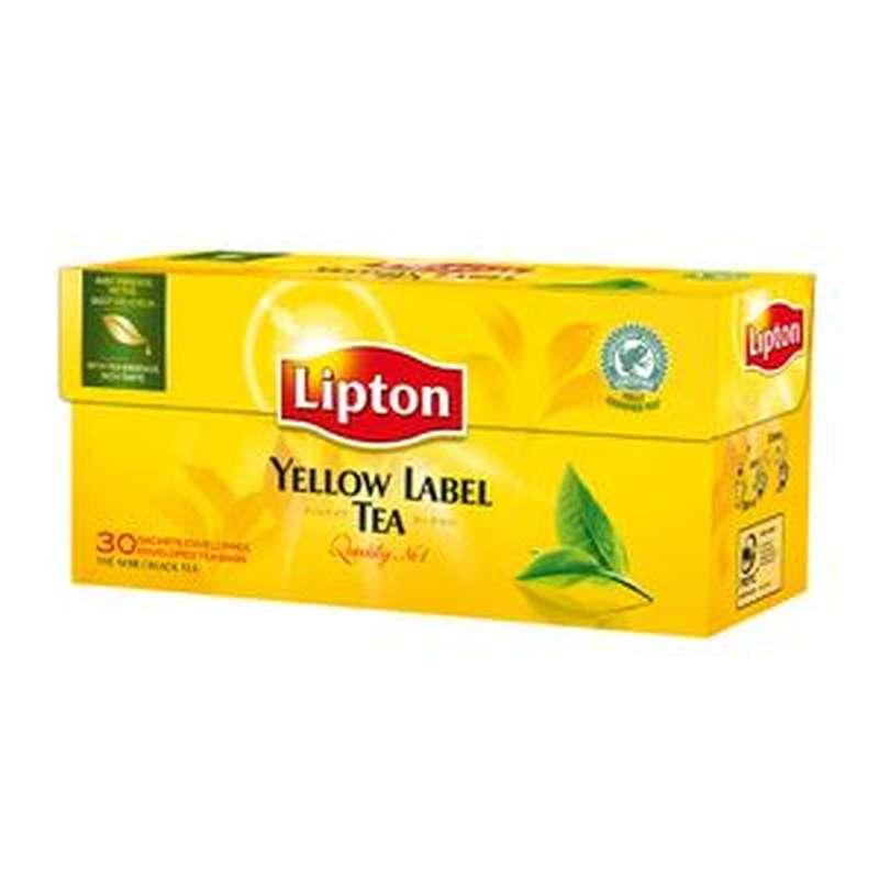 Thé noir Yellow Label, Lipton (30 sachets)