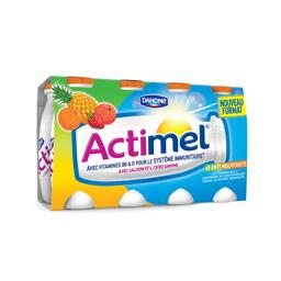 Actimel multifruits, Danone (8 x 100 g)