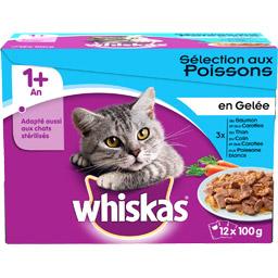 Gelée pour chat filet du pêcheur, Whiskas (12 x 100 g)