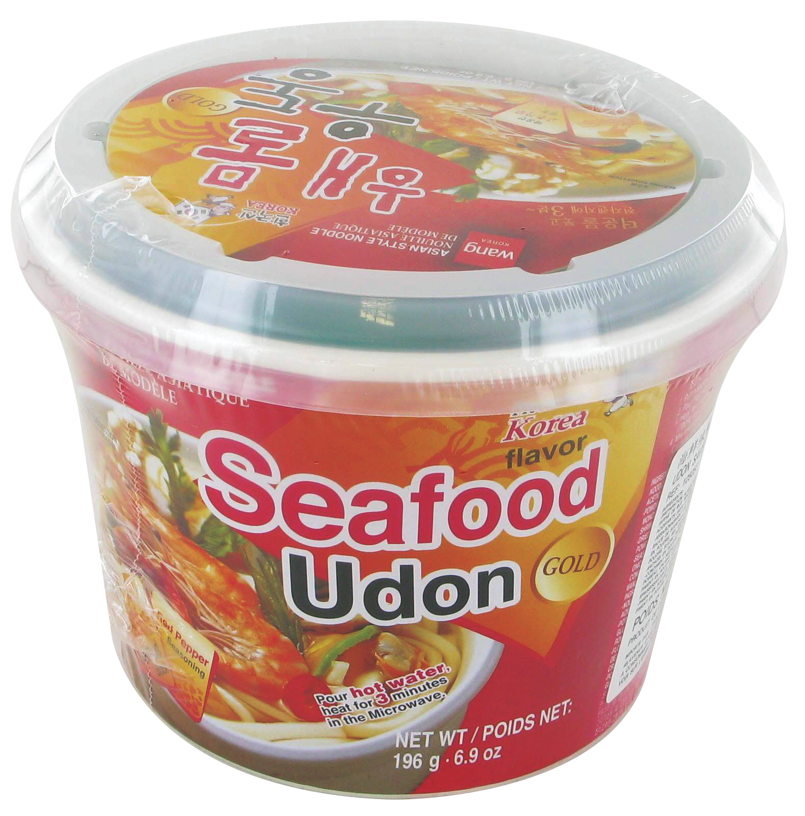 Udon saveur fruits de mer, Wang (196 g)