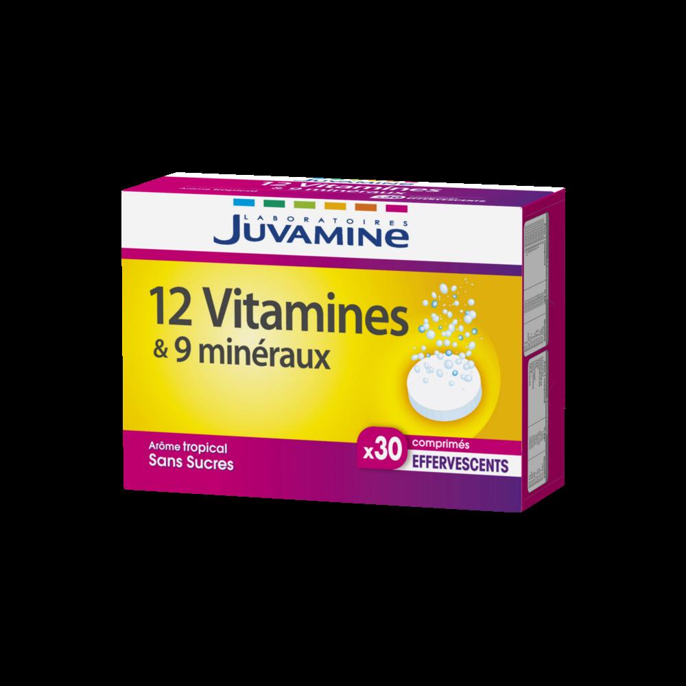 12 vitamines & 9 minéraux, Juvamine (x 30 comprimés)