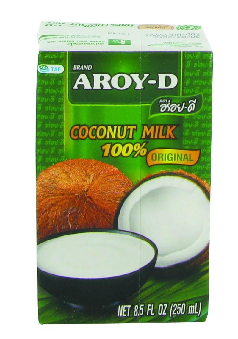 Lait de coco Aroy-D en brique (25 cl)