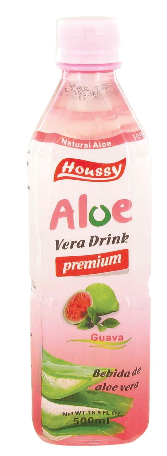 Boisson à l'aloe vera saveur goyave, Houssy (500 ml)