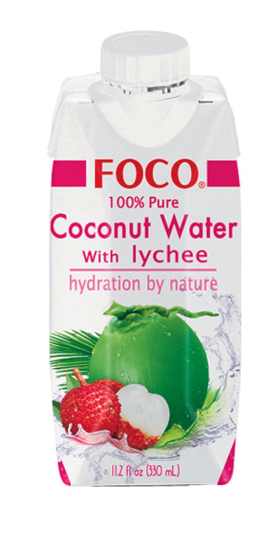Jus de noix de coco et de litchi, Foco (33 cl)